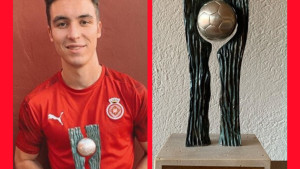 Valery Fernández, premiat amb el Futbol Draft Plata