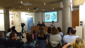 Primera conferència organitzada per la Cursa de la dona de l'Escala