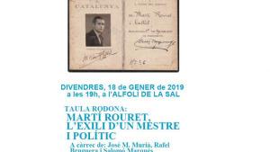 Divendres, taula rodona sobre Martí Rouret