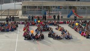 Cursa solidària a l'escola Empúries pel dia de la Pau