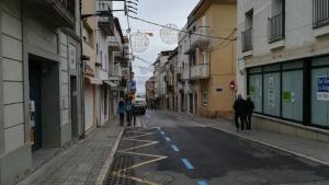 Obres per unificar el carrer Enric Serra amb la plaça de l'ajuntament i la platja