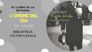 El llibre de la setmana - L'ordre del dia (Éric Vuillard)