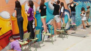 Taller de grafitti a l'Esbotzada