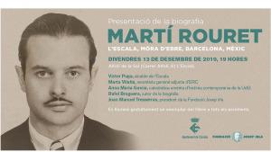 Presentació de la biografia de Martí Rouret a l'Alfolí