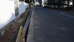 Millora de voreres a Riells de Dalt