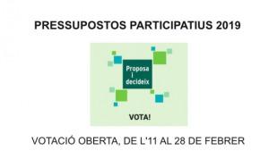 Última setmana de votacions als pressupostos participatius
