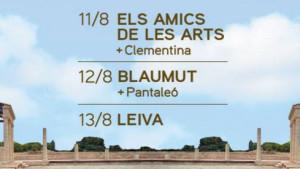 Quarta edició del festival Empúries-Concerts al Fòrum Romà de l'11 al 13 d'agost