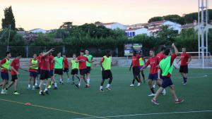 Primer entrenament del FC l'Escala