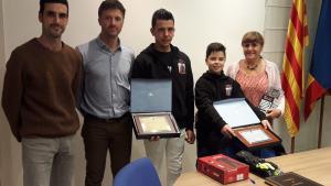 Els pilots de motos Àlex Loza i Miguel Pérez han tingut recepció oficial