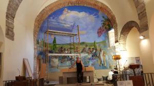 Pintura mural de Pujolboira a l'àbsis de l'església d'Albons
