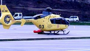 Evacuació d'un accidentat amb helicòpter