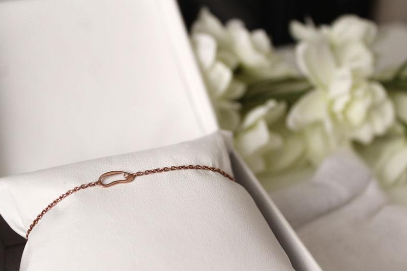 sacet small hoop chain bracelet
