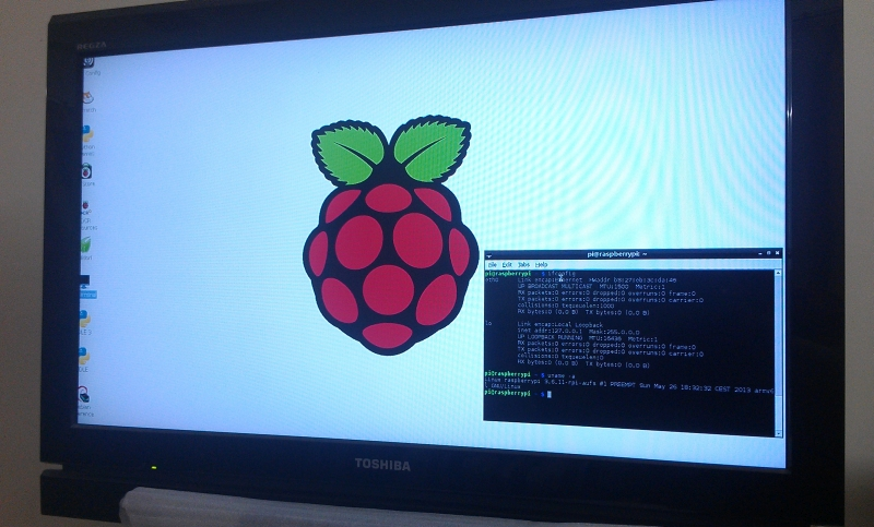 Raspberry Pi on TV