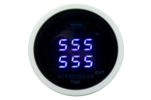 ProSport Digital Dual Intercooler Air Temperature Gauge w/Senders Blue 52mm ( Part Number: PSDITLCD-BL.F)
