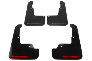 Rally Armor UR Mudflaps Black Urethane Red Logo ( Part Number: MF32-UR-BLK/RD)