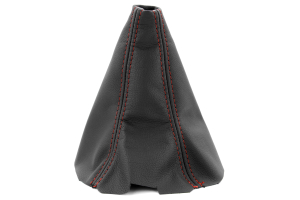 JPM Coachworks Shift Boot Black Leather Red Stitching  ( Part Number: 1023LBK-R)