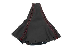JPM Coachworks Shift Boot Black Leather Red Stitching (Short Shifter Version) ( Part Number:  1102LBK-R)
