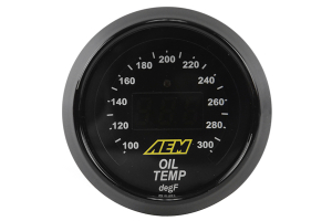 AEM Oil/Transmission/Coolant Temperature Gauge Digital 52mm ( Part Number: 30-4402)
