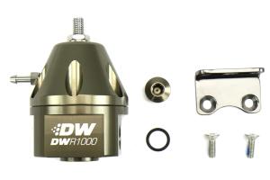 DeatschWerks DWR1000 Adjustable Fuel Pressure Regulator Anodized Titanium ( Part Number:  6-1000-FRT)