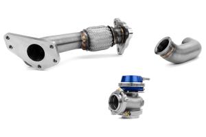 GrimmSpeed and Turbosmart 38/40mm EWG 3-Bolt Uppipe Blue Wastegate Kit  ( Part Number: 007067-TBS-BL)