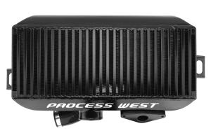 Process West Top Mount Intercooler Black Subaru Forester XT (with JDM Scoop) 2004-2008 ( Part Number: PWTMIC09B)