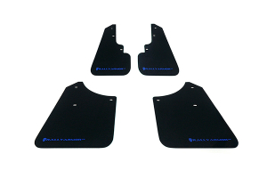 Rally Armor UR Mudflaps Black Urethane Blue Logo ( Part Number: MF5-UR-BLK/BL)