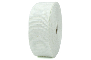 ProSport Fiberglass Heat Wrap White 50ftx2in roll w/ 5 Stainless Steel Zip Ties ( Part Number: HEA-WRAP KIT-WHT)