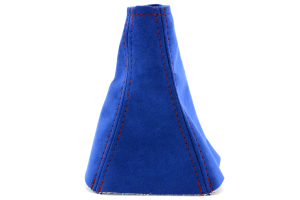 JPM Coachworks Shift Boot Blue Alcantara Red Stitching ( Part Number: 1025A55-R)