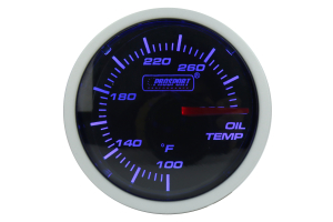 ProSport Oil Temperature Gauge Electrical w/Sender 52mm Blue/White ( Part Number: 216BFWBOTSM.F)