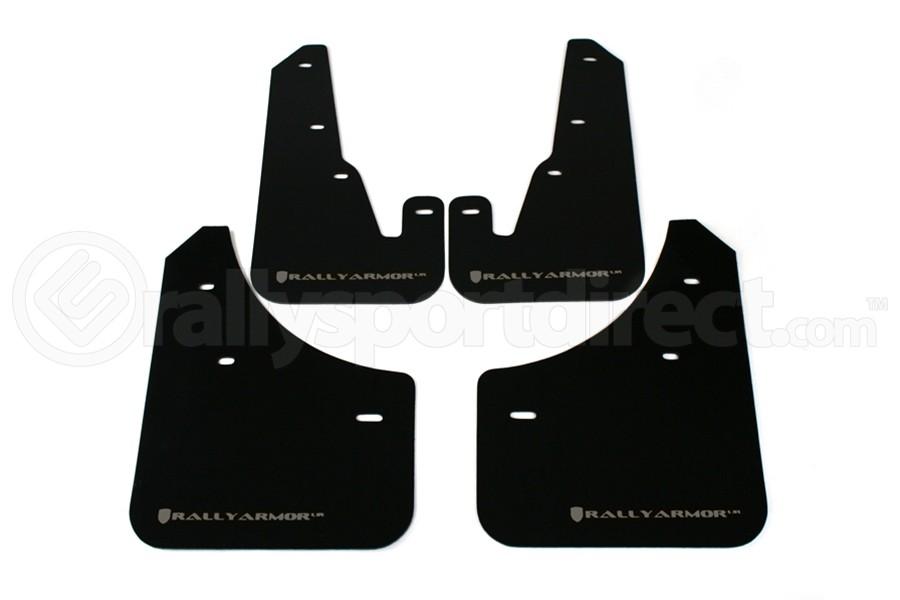 Rally Armor UR Mudflaps Black Urethane Silver Logo ( Part Number:RAL MF9-UR-BLK/SIL)