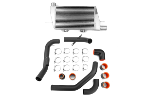 ETS Front Mount Intercooler Black Piping Silver Core ( Part Number: 200-08WB)