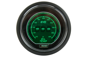 ProSport Digital Oil Temperature Electrical w/Sensor 52mm Green/White ( Part Number: 216EVOWGOT.F)