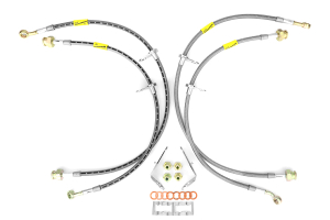 GoodRidge G-Stop Stainless Steel Brake Lines Front/Rear ( Part Number: 20024-CL)
