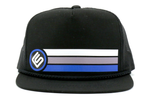 RallySport Direct Stripes Trucker Snap Back Hat ( Part Number:  20031)