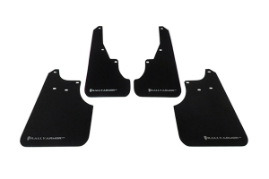 Rally Armor UR Mudflaps Black Urethane Silver Logo ( Part Number: MF11-UR-BLK/SIL)