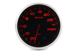 Defi Advance BF Red Boost 60mm Gauge w/ Control Unit 30PSI ( Part Number:  DF11407)