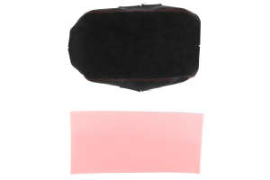 JPM Coachworks Non-Extended Armrest Black Alcantara w/ Red Stitching  ( Part Number: 1206A40-R)