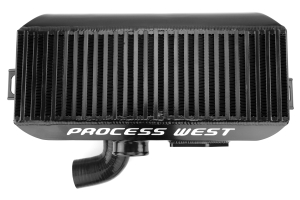 Process West Black Top Mount Intercooler Subaru WRX/STI 1999-2000  ( Part Number:  PWTMIC02B)