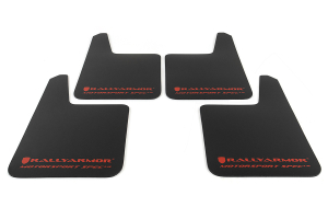 Rally Armor Universal MSpec Mudflap Black Urethane Red Logo ( Part Number: MF20-UR-BLK/RD)