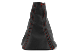 JPM Coachworks Shift Boot Black Leather Red Stitching  ( Part Number: 1025LBK-R)