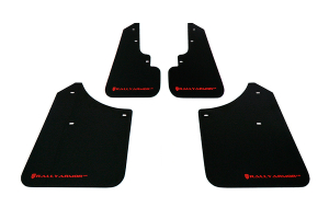 Rally Armor UR Mudflaps Black Urethane Red Logo ( Part Number: MF5-UR-BLK/RD)