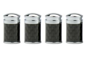 ProSport Carbon Fiber Valve Stem Caps ( Part Number:  CFVSC-PLAIN)