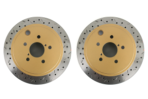 DBA 4000 Series Drilled/Slotted Rotor Pair Rear ( Part Number: 42659XSG)