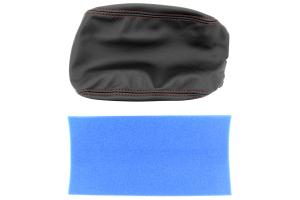 JPM Coachworks Extended Armrest Black Leather w/ Red Stitching ( Part Number: 1011LBKE-R)