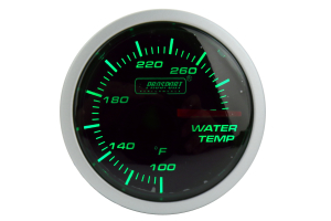ProSport Water Temperature Gauge Electrical w/Sender 52mm Green/White ( Part Number: 216BFWGWTSM.F)