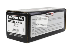 Hawk HP Plus Front Brake Pads  ( Part Number:HAW1 HB268N.665)