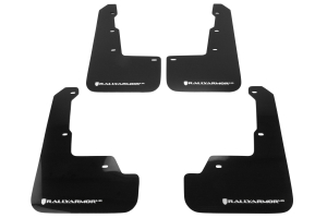 Rally Armor UR Mudflaps Black Urethane White Logo ( Part Number: MF32-UR-BLK/WH)