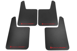 Rally Armor Basic Plus Red Logo Universal Mud Flaps ( Part Number: MF20-BAS-RD)