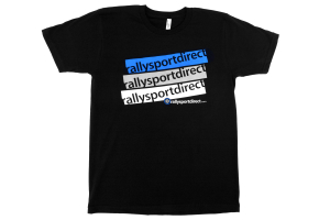 RallySport Direct Stacked T-Shirt Black Mens ( Part Number: 334)