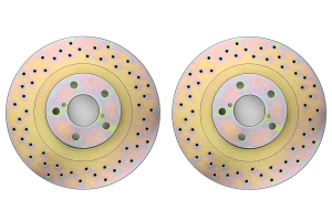 Brembo Sport Brake Rotor Pair Drilled Front ( Part Number:  33S50119)